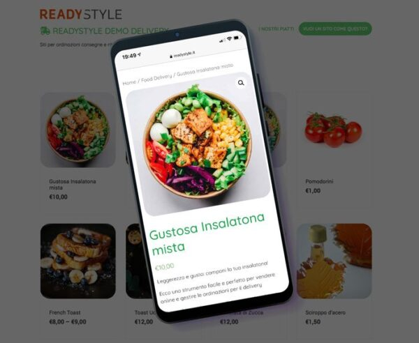 Sito Delivery | Sito per food delivery e take away. Offerta e-commerce. Vendi online